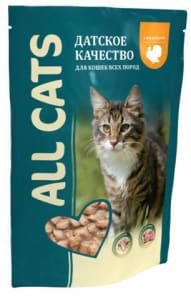 All Cats пауч для кошек со вкусом индейки в соусе, 0.085кг