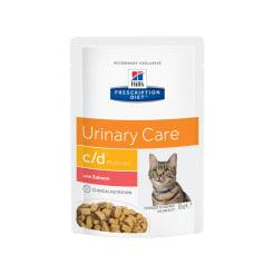Влажный диетический корм для кошек Hill's Prescription Diet c/d Multicare Urinary Care при  профилактике мочекаменной болезни, с лососем 0.085кг