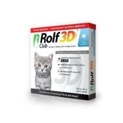 Ошейник от блох Рольф Клуб 3D для котят