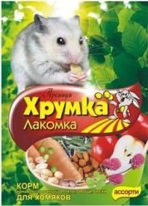 Корм для хомяков Хрумка Премиум Фрукты, овощи, орехи