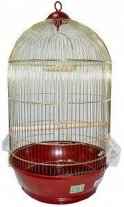 Клетка для птиц № 1( 40 * 70 ) круглая комплект 330