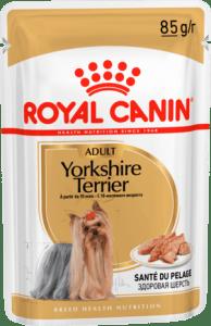 Royal Canin YORKSHIRE TERRIER ADULT (ПАШТЕТ) 0.085кг, Влажный корм для собак породы йоркширский терьер с 10 месяцев