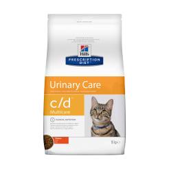 Сухой диетический корм для кошек Hill's Prescription Diet c/d Multicare Urinary Care при  профилактике цистита и мочекаменной болезни (мкб) с курицей, 10 кг