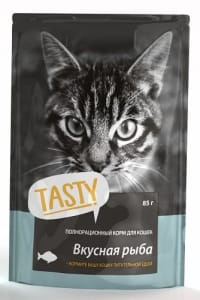 Tasty пауч для кошек со вкусом рыбы в желе, 0.085кг