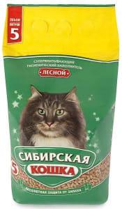 Наполнитель Сибирская Кошка лесной, 5л