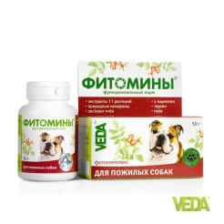 Фитомины с фитокомплексом для пожилых собак, 50 г