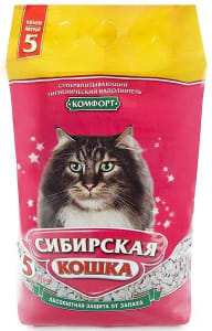 Наполнитель сибирская кошка комфорт, 5л/3кг