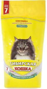 Наполнитель Сибирская Кошка Ультра комкующийся, 7л