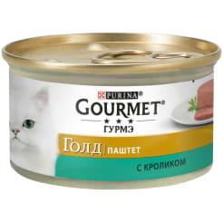 Консервы для кошек Purina Gourmet Gold, кролик, 0.085кг
