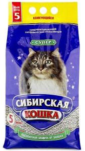 Наполнитель Сибирская Кошка Супер комкующийся, 5л