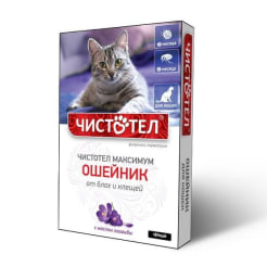 Ошейник от блох Чистотел Максимум для кошек Черный