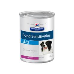 Влажный диетический корм для собак Hill's Prescription Diet d/d Food Sensitivities при пищевой аллергии, с уткой 0.37кг