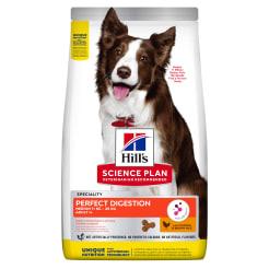 Сухой корм Hill's для собак средних пород для поддержания пищеварения и питания микробиома,с курицей коричневым рисом, 2.5кг