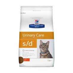 Сухой диетический корм для кошек Hill's Prescription Diet s/d Urinary Care при профилактике мочекаменной болезни (мкб) курицей, 1.5 кг