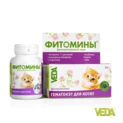 Фитомины функциональный корм для котят ГЕМАТОКЭТ №100