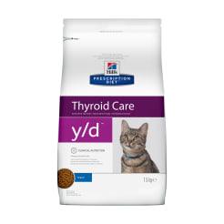 Сухой диетический корм для кошек Hill's Prescription Diet y/d Thyroid Care при заболеваниях щитовидной железы, 1.5 кг
