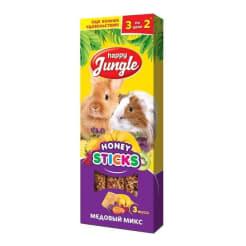 Лакомство для грызунов Happy Jungle Палочки медовый микс 3 шт
