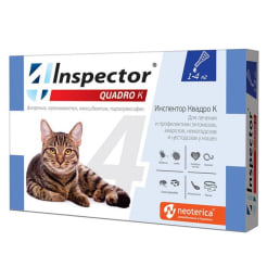 Капли на холку Inspector Quadro для кошек 1 - 4 кг