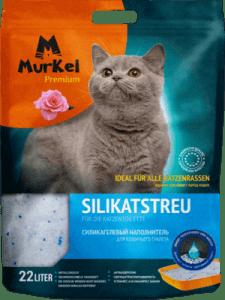 Силикагелевый наполнитель Murkel с ароматом розы, 10кг