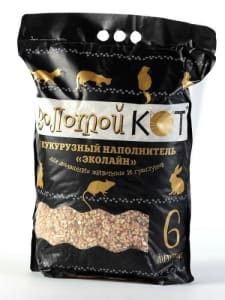 Наполнитель Золотой Кот кукурузный 6 л