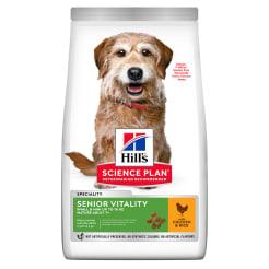 Сухой корм Hill's Science Plan Senior Vitality для пожилых собак мелких пород старше 7 лет, с курицей и рисом, 1,5кг