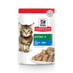 Влажный корм Hill's Science Plan для котят для здорового роста и развития, пауч с океанической рыбой в соусе, 0.085кг