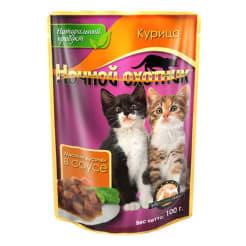 Ночной охотник консервы 100 гр для котят курица в соусе