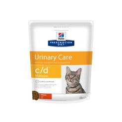 Сухой диетический корм для кошек Hill's c/d Multicare Urinary Care при  профилактике мочекаменной болезни (мкб) с курицей, 0.4кг