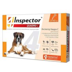 Капли на холку Inspector Quadro для собак 25 - 40 кг