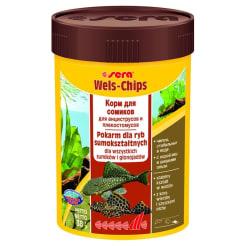 Корм для рыб SERA Wels Chips для сомов присосок, 0.1л