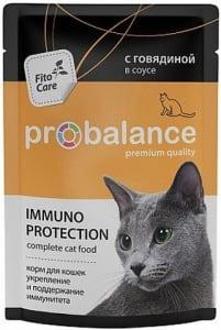 ПРОБаланс консервы для кошек  говядина в соусе, 0.085кг