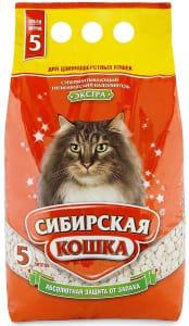 Наполнитель для длинношерстных кошек Сибирская Кошка Экстра впитывающий, 5л