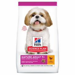 Сухой корм Hill's Science Plan для пожилых собак (7+)мелких пород для поддержания иммунитета с курицей, 1.5 кг