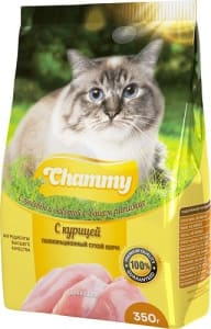 Chammy сухой для кошек 350 гр курица
