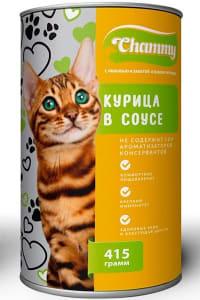 Chammy консерва для кошек  415гр курица в соусе