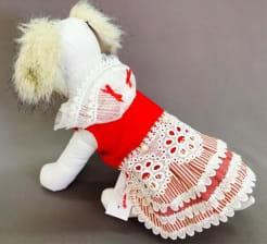 Платье для собак Жемчуг размер XL