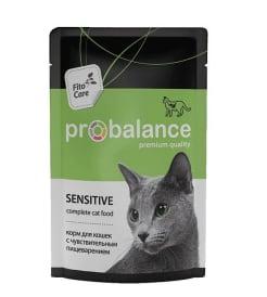 ПРОБаланс консервы для кошек с чувствительным пищеварением, 0,085кг