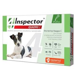 Капли на холку Inspector Quadro для собак 4 - 10 кг