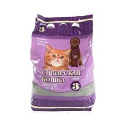 Наполнитель для котят Сибирская Кошка Супер, комкующийся, 3л