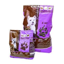 Сухой корм для собак мелких пород Дилли, 1 кг