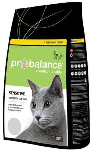 ПРОБаланс Sensitive сухой корм для кошек с чувствительным пищеварением, 1,8кг