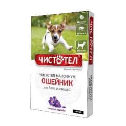 Ошейник от блох Чистотел Максимум для собак Черный