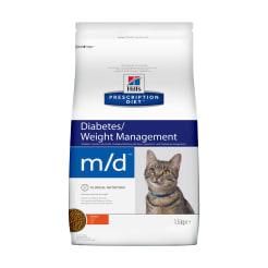 Сухой диетический корм для кошек Hill's Diet m/d Diabetes/при сахарном диабете курицей, 1.5кг