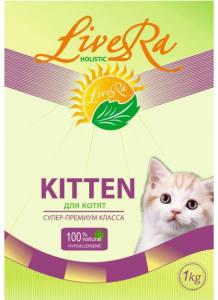 LiveRa Kitten, сухой корм для котят, 0.25кг