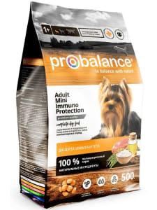 ПРОБаланс  Immuno Сухой корм для собак для миниатюрных пород, 0,5кг