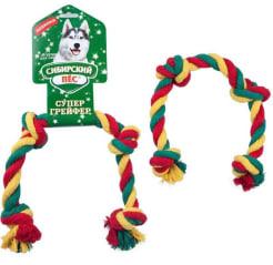 Игрушка для собак СП Грейфер цветная верёвка 4 узла