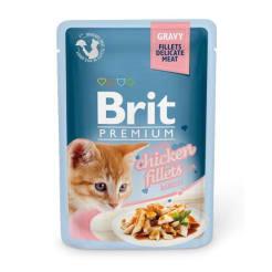 Brit Premium пауч для котят со вкусом курицы, 0.1кг