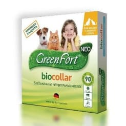 Ошейник от блох GreenFort Neo для кошек и мелких пород собак