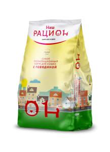 Сухой корм для взрослых кошек Наш Рацион со вкусом говядины, 0.4 кг