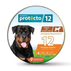 Ошейник от блох Neoterica Protecto для собак крупных пород